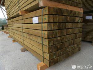 Импрегнирани греди 10 на 10 на 400 см.