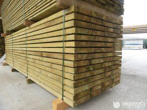 Импрегнирани талпи 25 на 5 на 400 см.