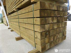 Импрегнирани греди 12 на 12 на 400 см.