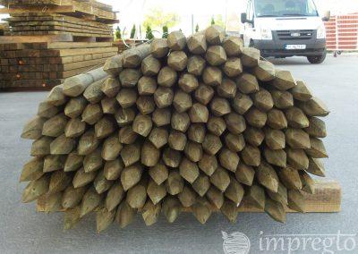 Импрегнирани дървени колове-2